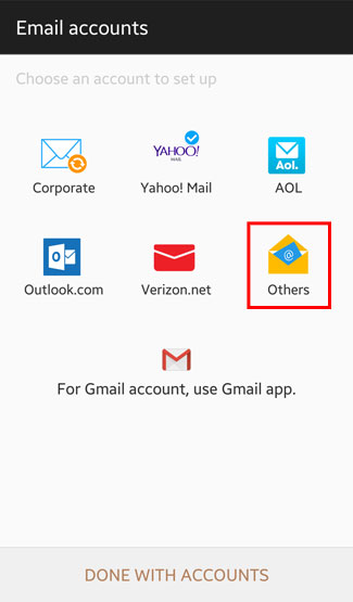 Email Android 04 Choose Acct Type