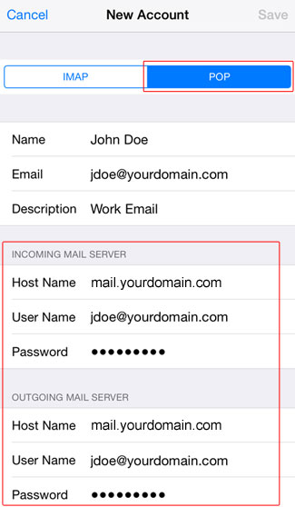 Email Ios 06 Pop Server Info