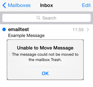 Email Ios Trash 01 Unable Move