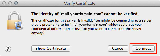 Email Mail 07 Certificate Warning