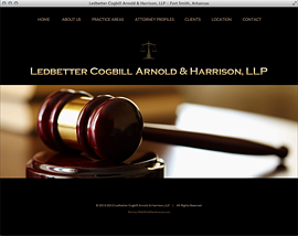 Web design web development HTML CSS PHP Javascript Ledbetter Cogbill Arnold Harrison Law Firm Fort Smith Arkansas